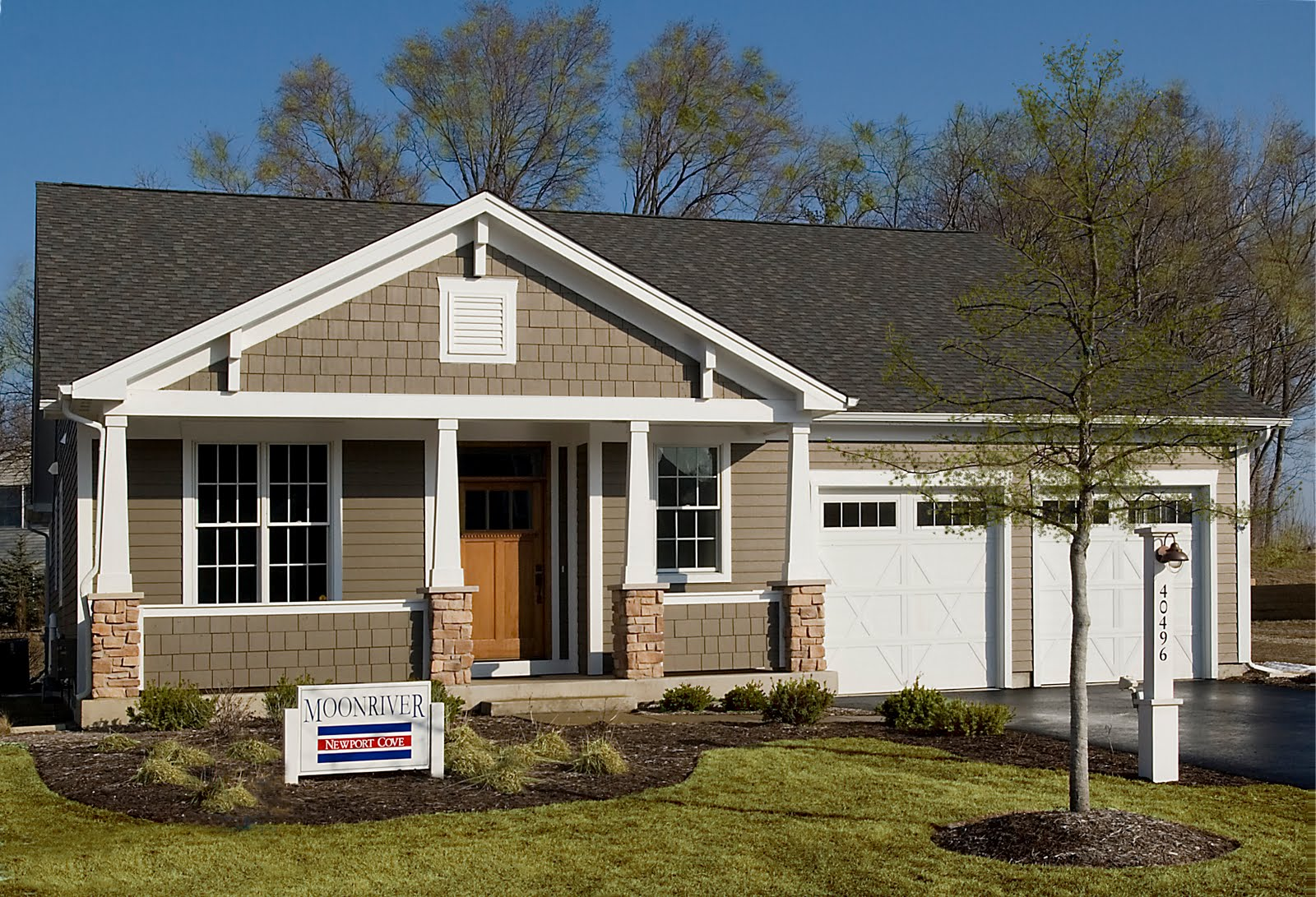 One story gable roof house plans for Gable garage plans